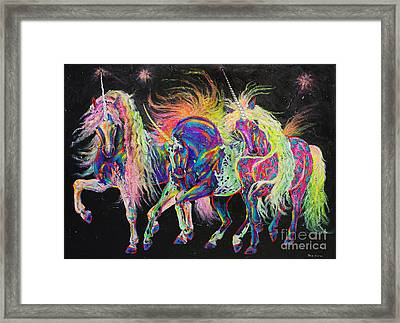 Carnivale Framed Print by Louise Green
