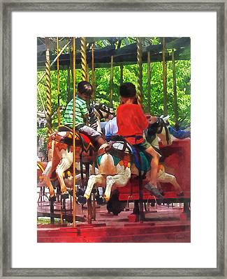 Carnivals - Friends On The Merry-go-round Framed Print