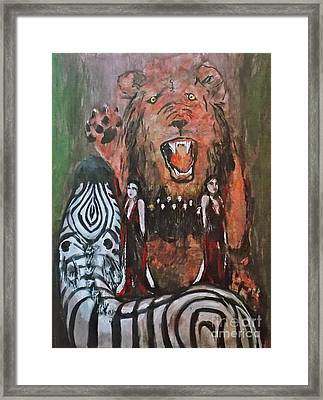 Carnivorous Rule Of Law Framed Print by Thomas Dudas