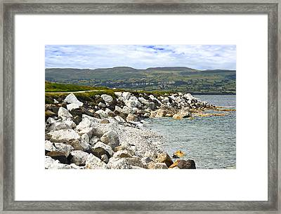 Carnlough Bay Antrim Northern Ireland Framed Print by Jane McIlroy