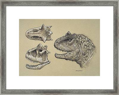 Carnotaurus Framed Print by Science Photo Library