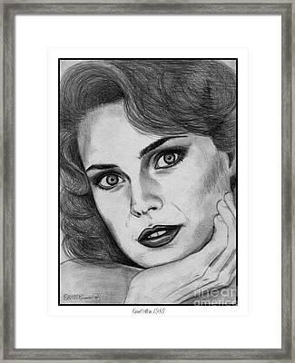 Carol Alt In 1985 Framed Print by J McCombie