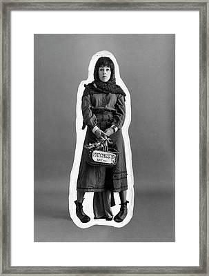 Carol Burnett Dressed As A Match-girl Framed Print by Leonard Nones