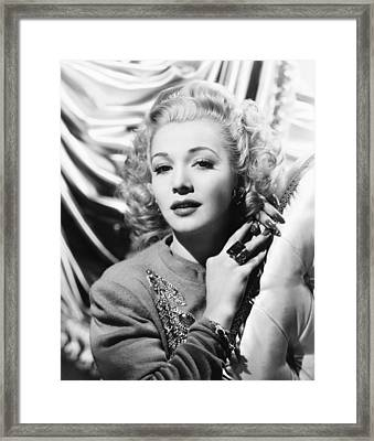 Carole Landis, Ca. Early 1940s Framed Print