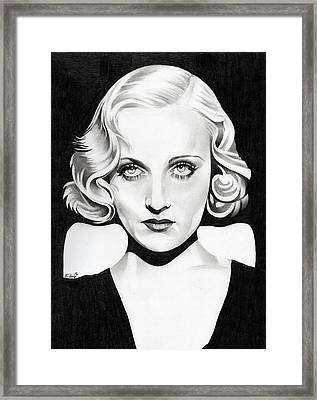 Carole Lombard Framed Print by Fred Larucci