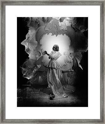 Carole Lombard On A Movie Set Framed Print