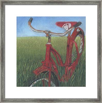 Framed Print featuring the drawing Carole's Bike by Arlene Crafton