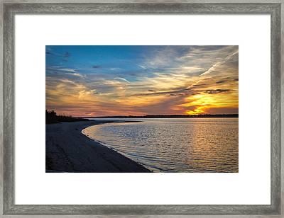 Carolina Beach River Sunset II Framed Print by Phil Mancuso