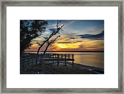 Carolina Beach River Sunset Framed Print by Phil Mancuso