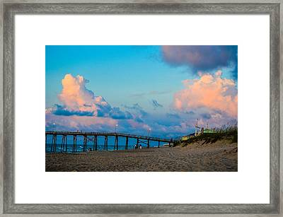 Carolina Blue Over Kure Beach Framed Print