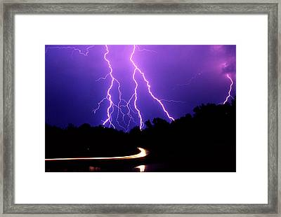 Carolina Electrical Storm Framed Print by Mike McGlothlen