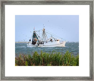 Carolina Girls Shrimp Boat Framed Print