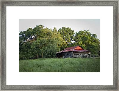 Carolina Horse Barn Framed Print