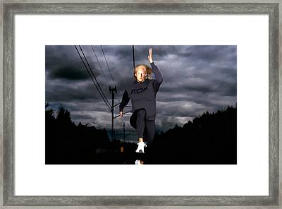 Carolina Kluft Track And Field Framed Print by Lanjee Chee