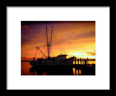 Shrimpboats Framed Prints