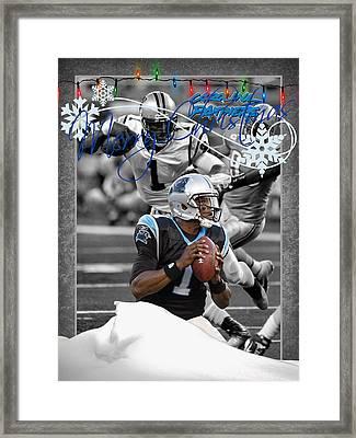 Carolina Panthers Christmas Card Framed Print by Joe Hamilton