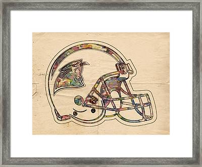 Carolina Panthers Logo Art Framed Print