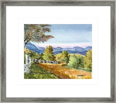 Carolina Piedmont High Meadow Framed Print