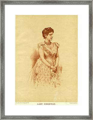 Caroline Lady Ridgeway  Wife Of Sir Framed Print by Mary Evans Picture Library