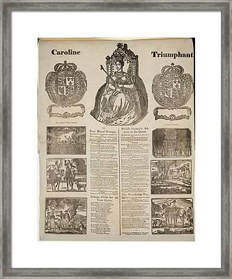 Caroline Triumphant Framed Print by British Library