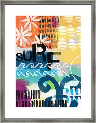 Carousel #7 Surf - Contemporary Abstract Art Framed Print