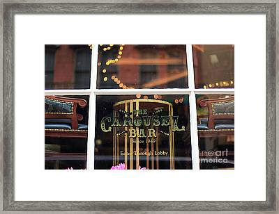 Carousel Bar Framed Print by Heather Green
