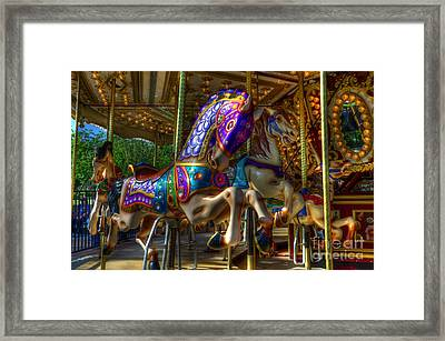 Carousel Beauties Ready To Ride Framed Print