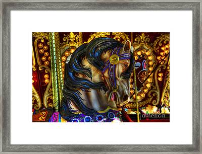 Carousel Beauty Waiting For A Rider Framed Print by Bob Christopher