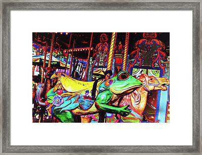Carousel Frog Framed Print by Marianne Campolongo