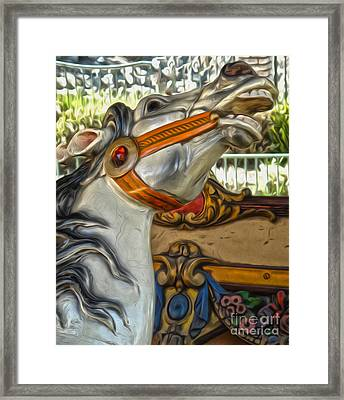 Carousel Horse - 01 Framed Print by Gregory Dyer