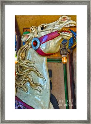 Carousel Horse - 02 Framed Print by Gregory Dyer