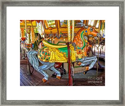 Carousel Horse - 03 Framed Print by Gregory Dyer