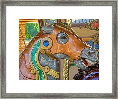 Carousel Horse - 04 Framed Print by Gregory Dyer