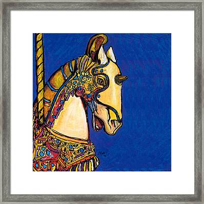Carousel Horse Framed Print by Dale Moses