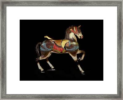 Carousel Horse Glen Echo Framed Print by Charles Shoup