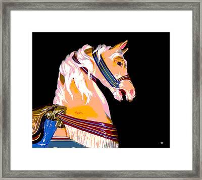 Carousel Horse Glen Echo Park Framed Print by Charles Shoup