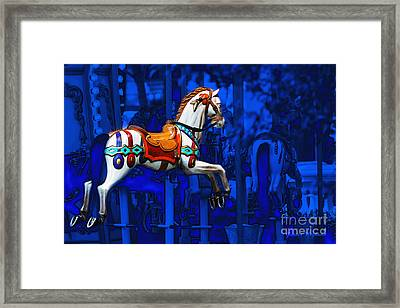 Framed Print featuring the photograph Carousel Horse by Gunter Nezhoda