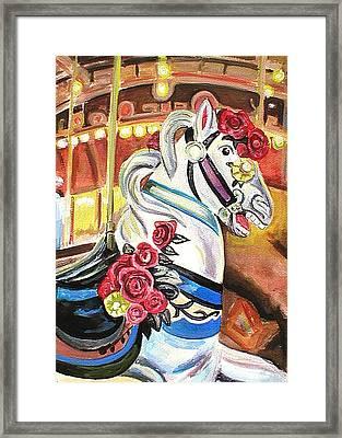 Carousel Horse Framed Print by Melinda Saminski