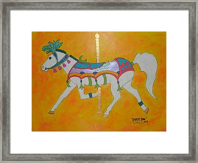 Carousel Horse   Framed Print by Theresa Shaw