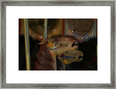 Carousel Horses Painterly Framed Print by Ernie Echols