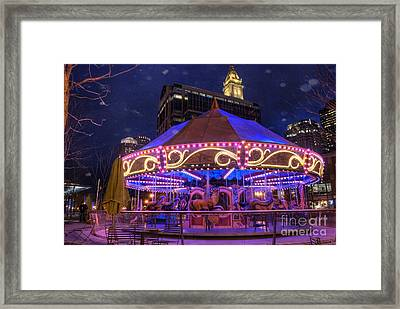 Carousel In Boston Framed Print