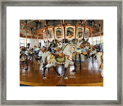 Carousel Indian Horse No. 1 Framed Print