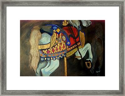 Carousel Framed Print by John Stevens