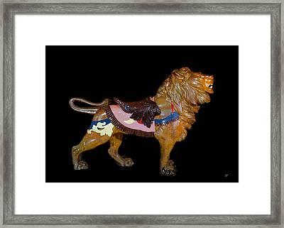 Carousel Lion Glen Echo Park Framed Print by Charles Shoup