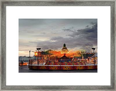 Carousel Framed Print by Matthew Gibson