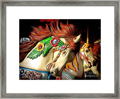 Carousel Framed Print by Olivier Le Queinec