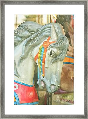 Carousel Painted Pony Framed Print by Colleen Kammerer
