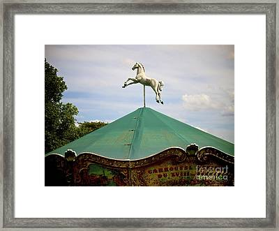 Carousel. Paris. France. Framed Print by Bernard Jaubert