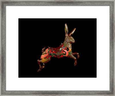 Carousel Rabbit  Framed Print by Charles Shoup
