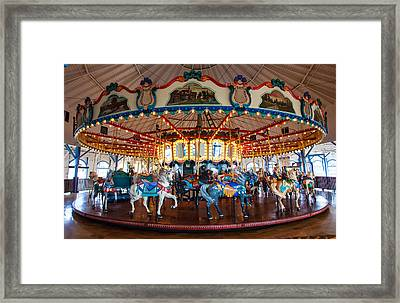 Framed Print featuring the photograph Carousel Ride by Jerry Cowart